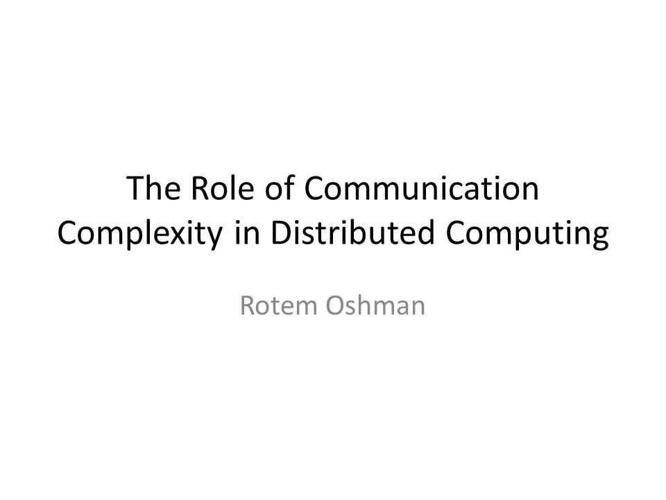 Background: Distributed Computing