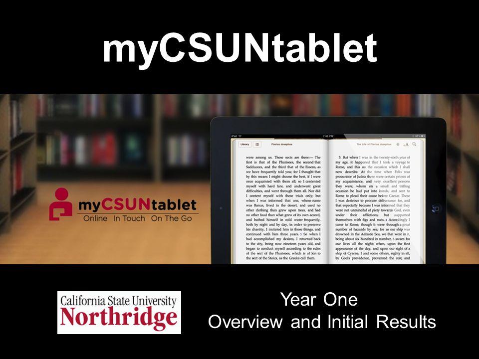 Introducing myCSUNtablet Video http://youtu.be/k6kBFoC4wZo