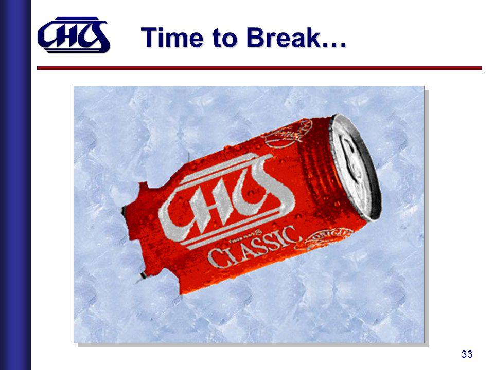 33 Time to Break…
