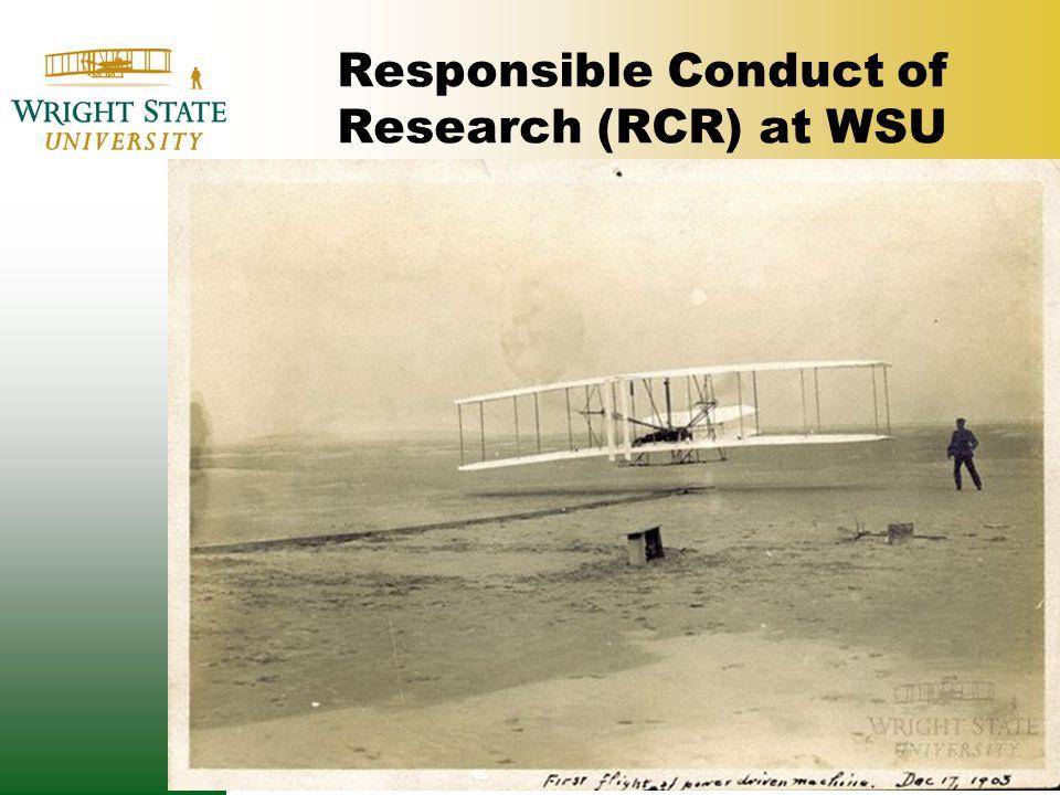 Responsible Conduct of Research (RCR) at WSU