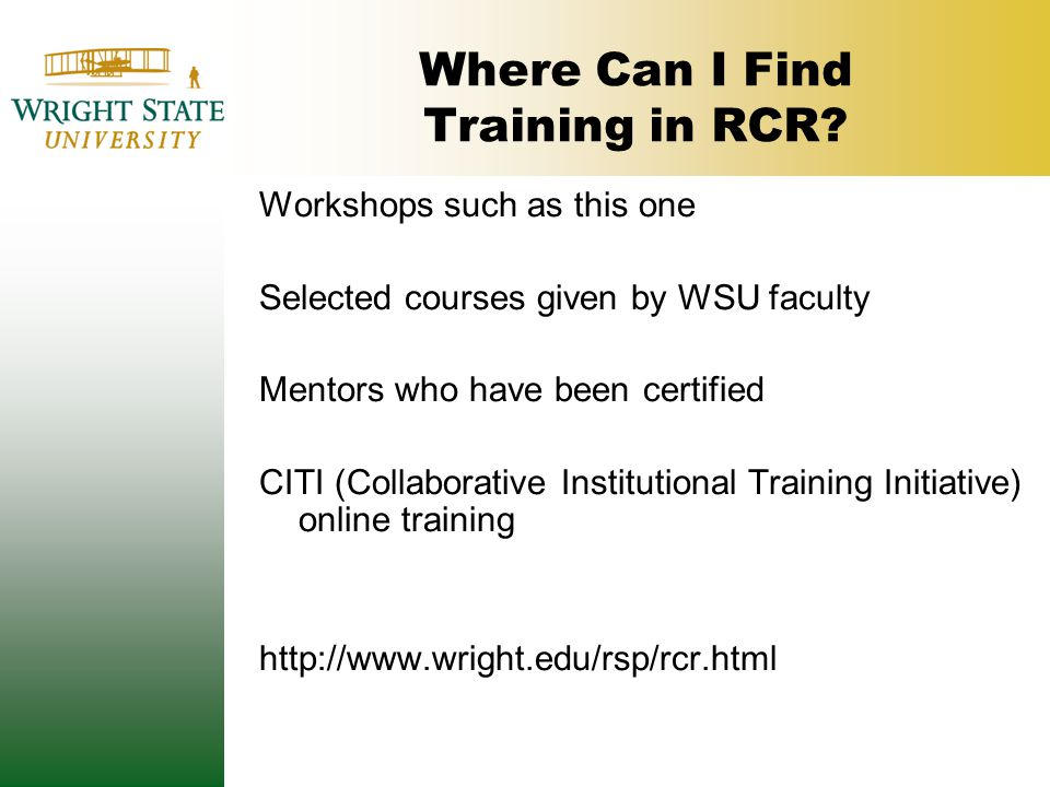Where Can I Find Training in RCR.