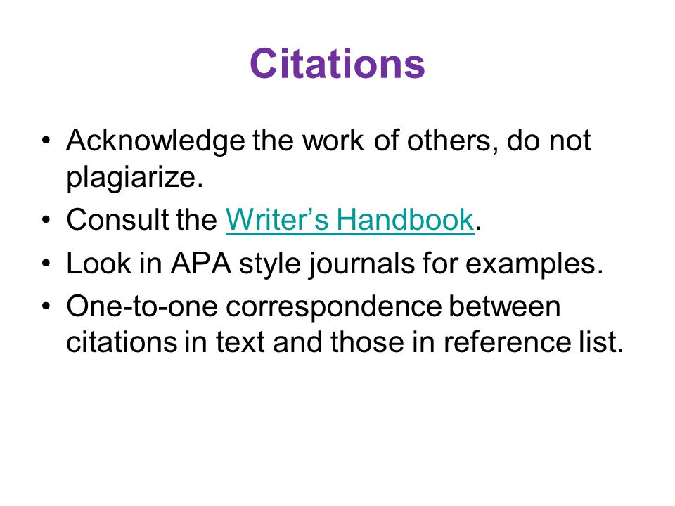Example Citations in Text …..