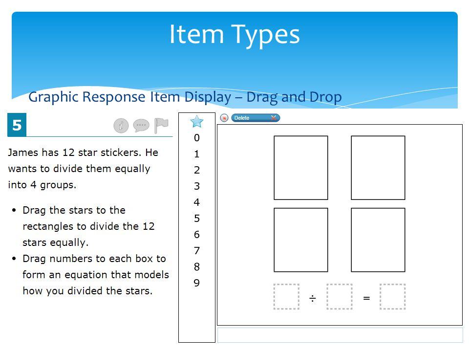 Graphic Response Item Display – Drag and Drop Item Types