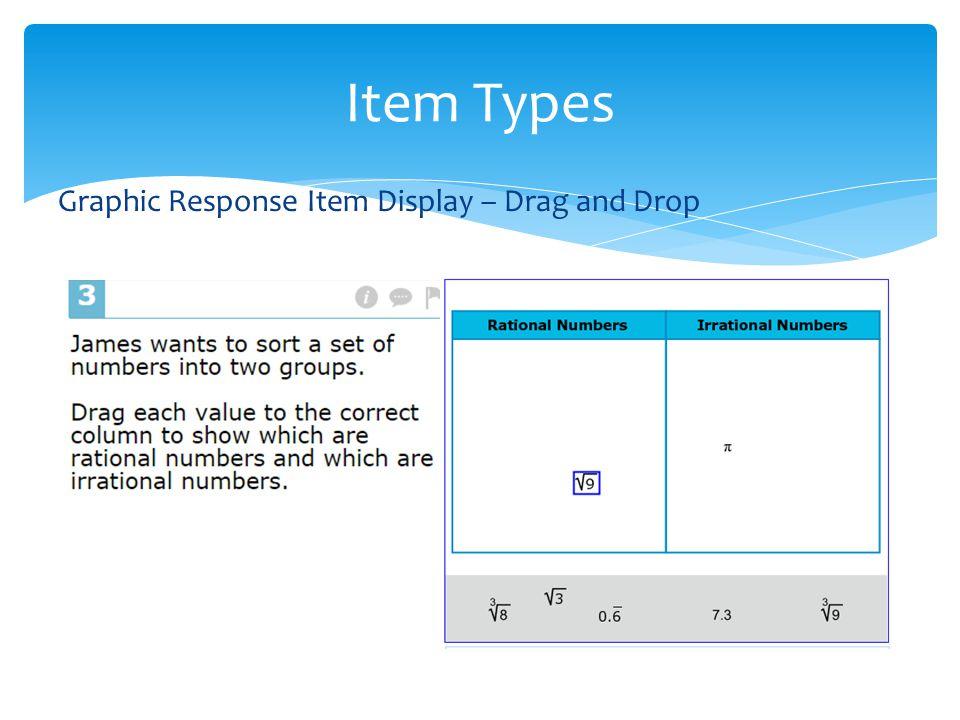 Graphic Response Item Display – Drag and Drop