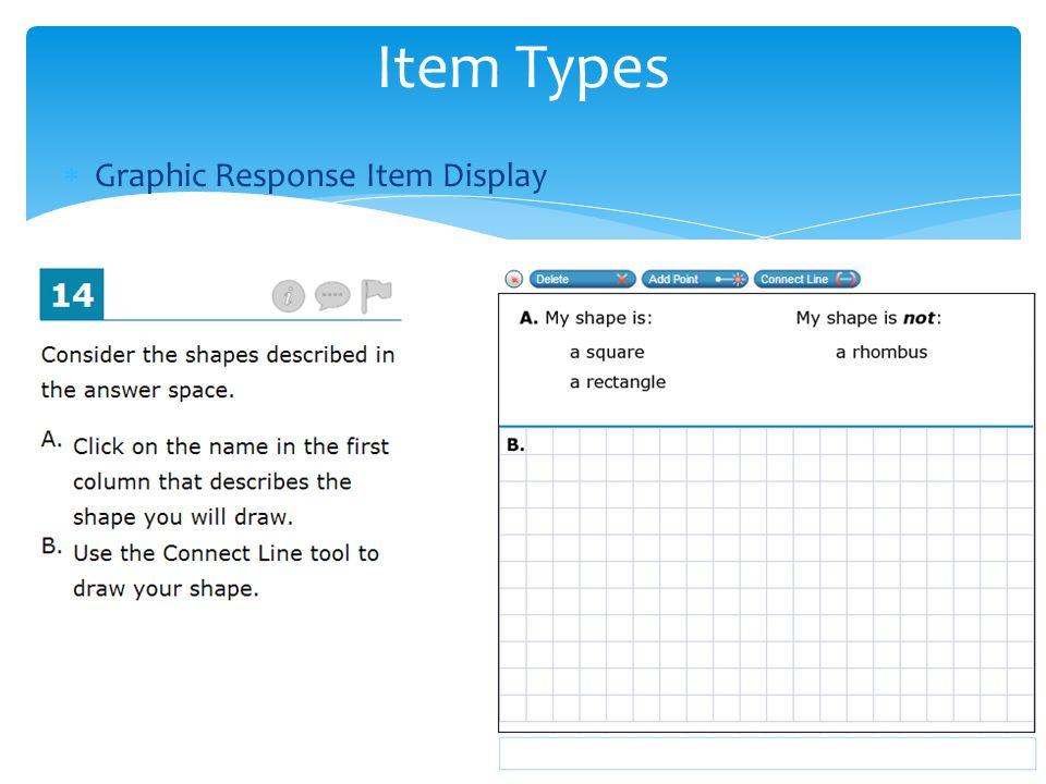  Graphic Response Item Display Item Types