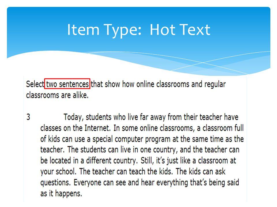 Item Type: Hot Text