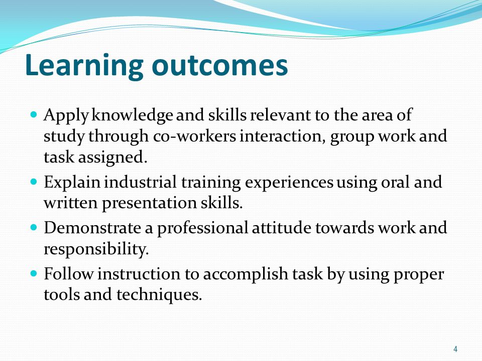 Industrial Training Program Industrial training for 3 months/ 12 weeks.