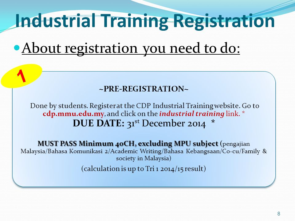 Industrial Training Registration 9 ~SUBJECT REGISTRATION AT CAMSYS~ CDP admin will register Industrial subject in CamSys.