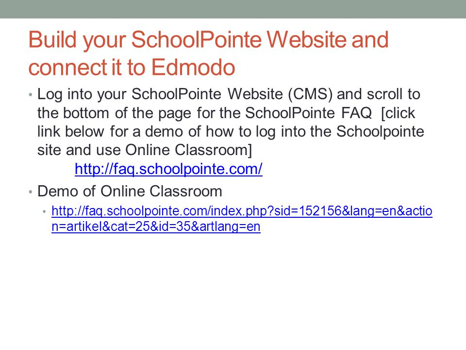 How to use SchoolPointe: Best Video Tutorials http://www.ahs.dcps.org/its/web/w eb/schoolpointe.htm http://www.ahs.dcps.org/its/web/w eb/schoolpointe.htm http://www.youtube.com/watch?v=SMyQcDO6rog&feature =channel http://www.youtube.com/watch?v=SMyQcDO6rog&feature =channel