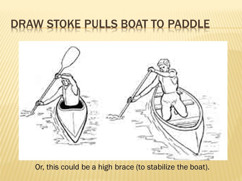 Or, this could be a high brace (to stabilize the boat).