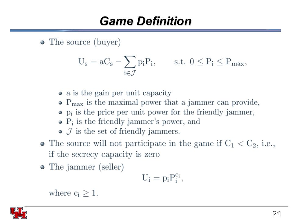 Game Definition [24]