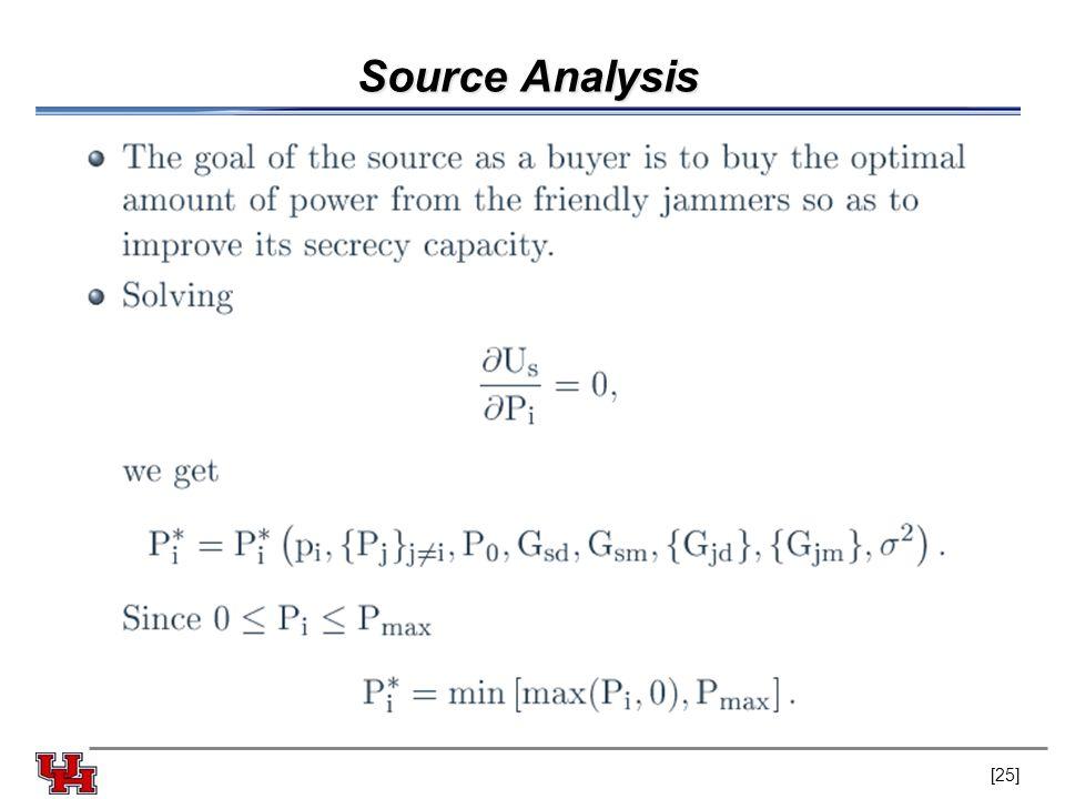 Source Analysis [25]