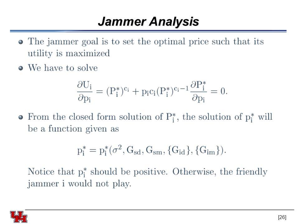Jammer Analysis [26]