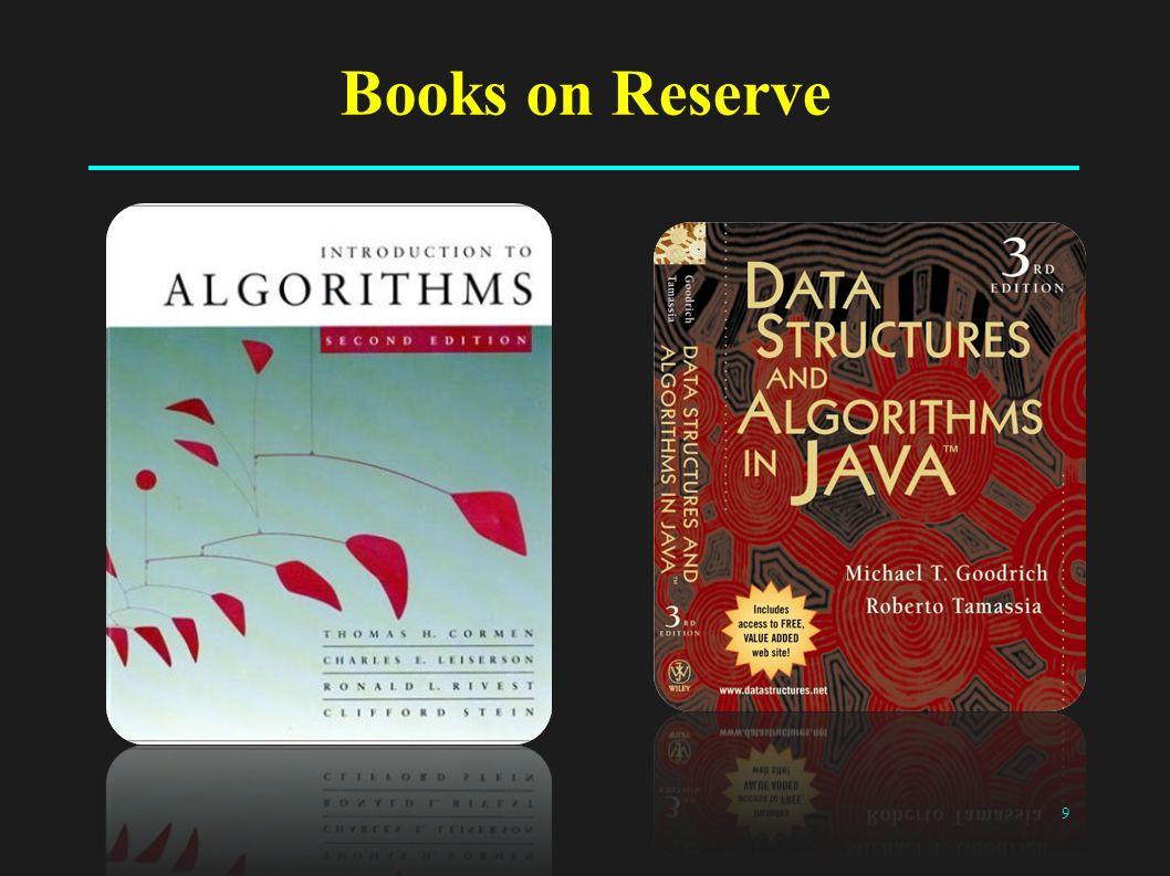 9 Books on Reserve