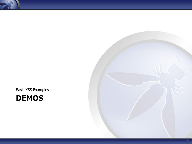 DEMOS Basic XSS Examples 16