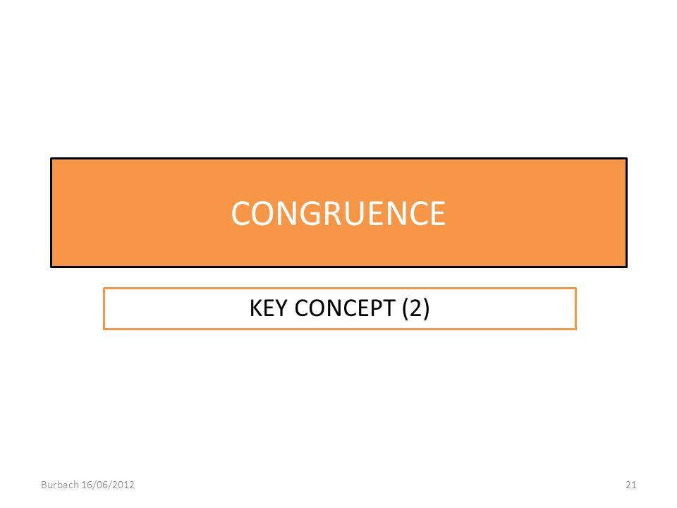CONGRUENCE KEY CONCEPT (2) Burbach 16/06/201221