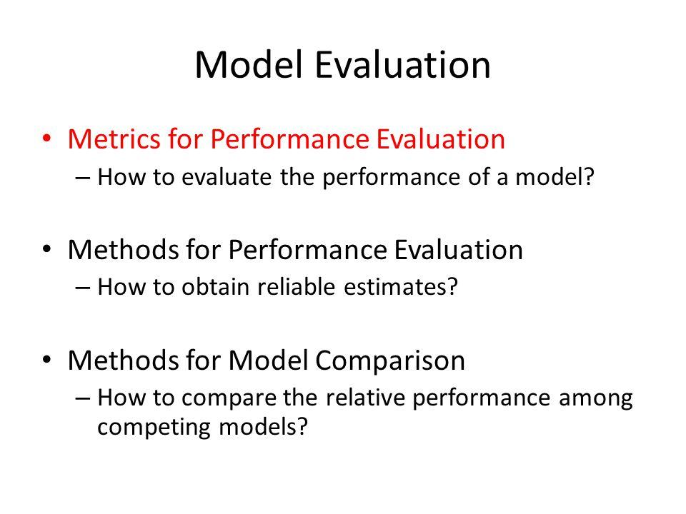 Model Evaluation Metrics for Performance Evaluation – How to evaluate the performance of a model? Methods for Performance Evaluation – How to obtain r