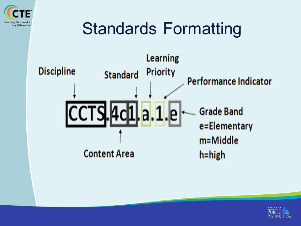 Standards Formatting