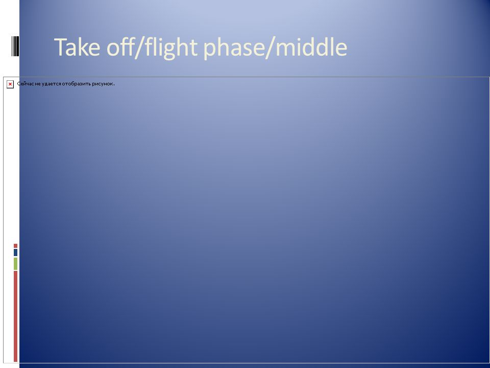 Take off/flight phase/middle