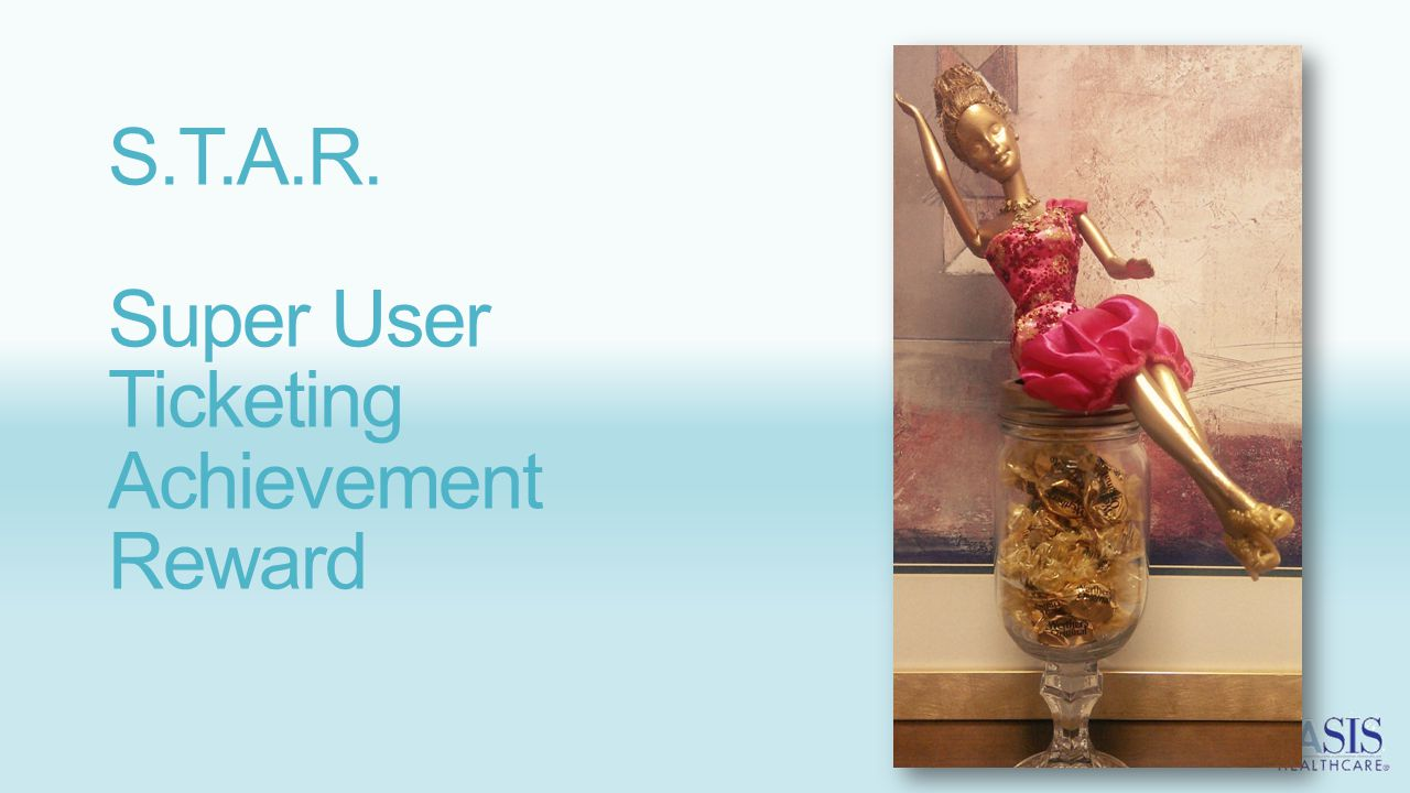 S.T.A.R. Super User Ticketing Achievement Reward