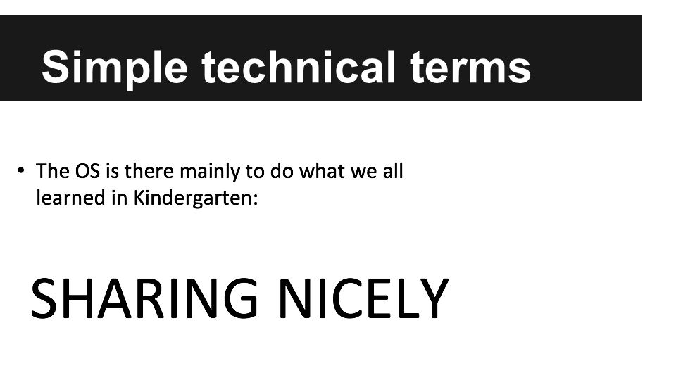 Simple technical terms