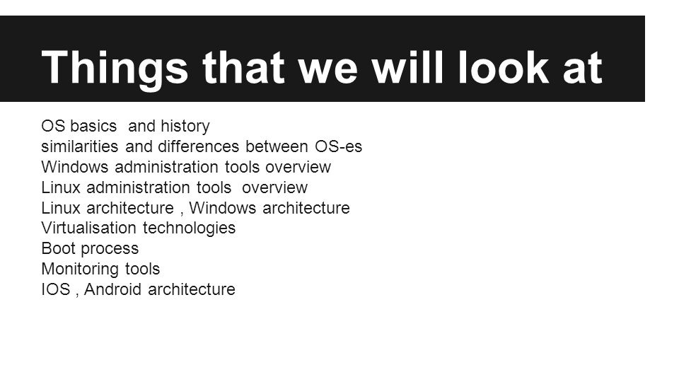 Virtualisation Technologies
