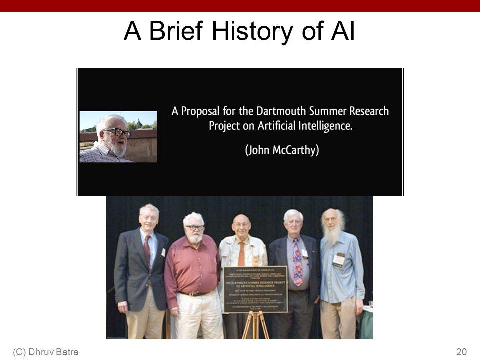 A Brief History of AI (C) Dhruv Batra20