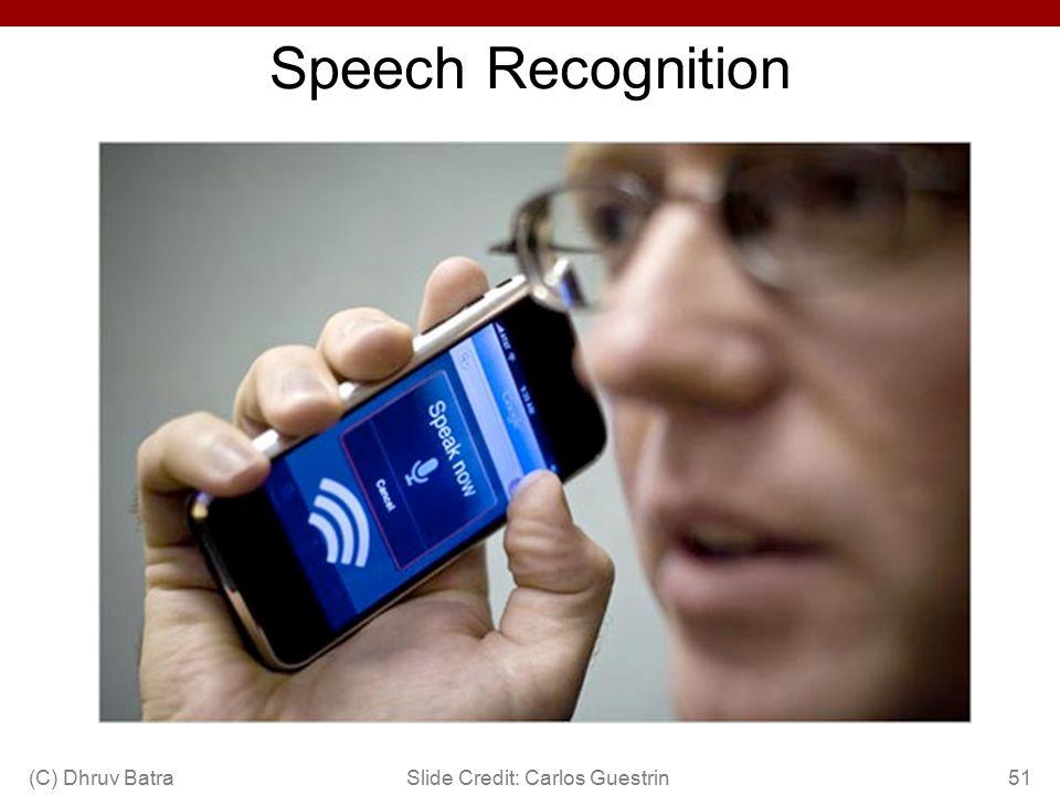 Speech Recognition (C) Dhruv Batra51Slide Credit: Carlos Guestrin