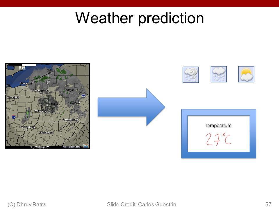 Weather prediction Temperature Slide Credit: Carlos Guestrin57(C) Dhruv Batra