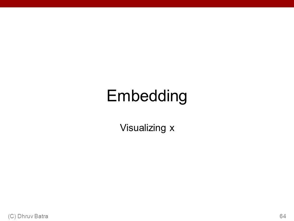 Embedding Visualizing x (C) Dhruv Batra64