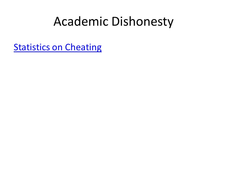 Academic Dishonesty Statistics on Cheating