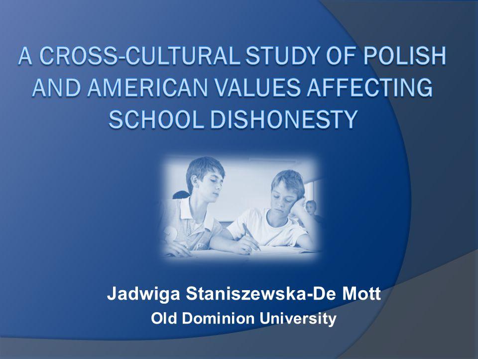 Jadwiga Staniszewska-De Mott Old Dominion University