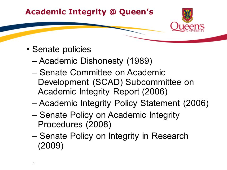 5 Role of Office of the Provost awareness, education, policies & procedures promote ideas about academic integrity (AI) within the Queen's community provide tools and information that will help students and faculty in their work look at methods of introducing AI into the classroom and beyond