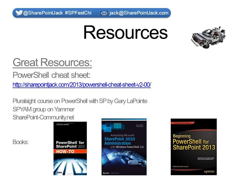 Resources @SharePointJack #SPFestChi jack@SharePointJack.com