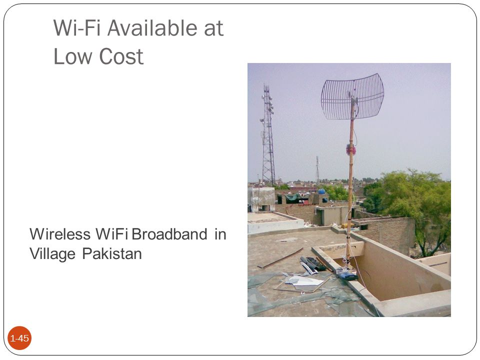 Wi-Fi Available at Low Cost 1-45 Wireless WiFi Broadband in Village Pakistan