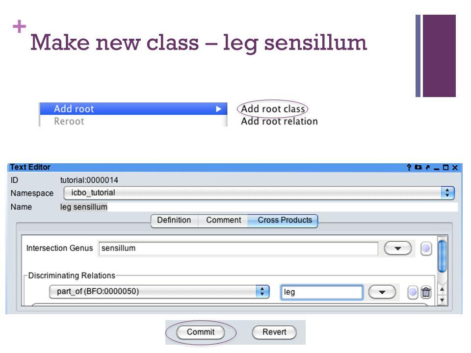+ Make new class – leg sensillum