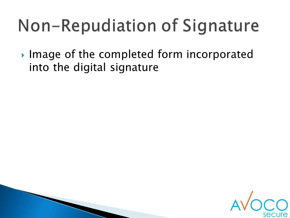  Image of the completed form incorporated into the digital signature
