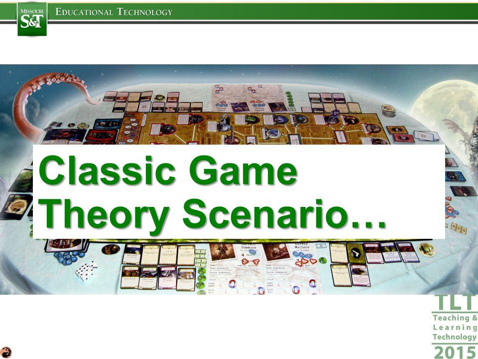 Classic Game Theory Scenario…