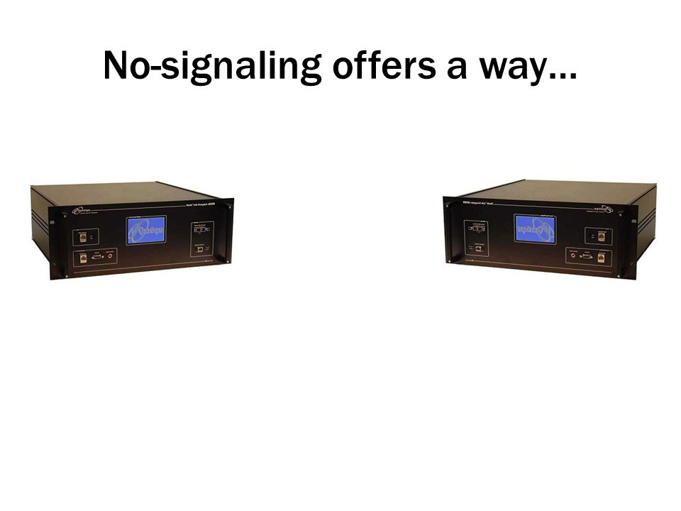 No-signaling offers a way…
