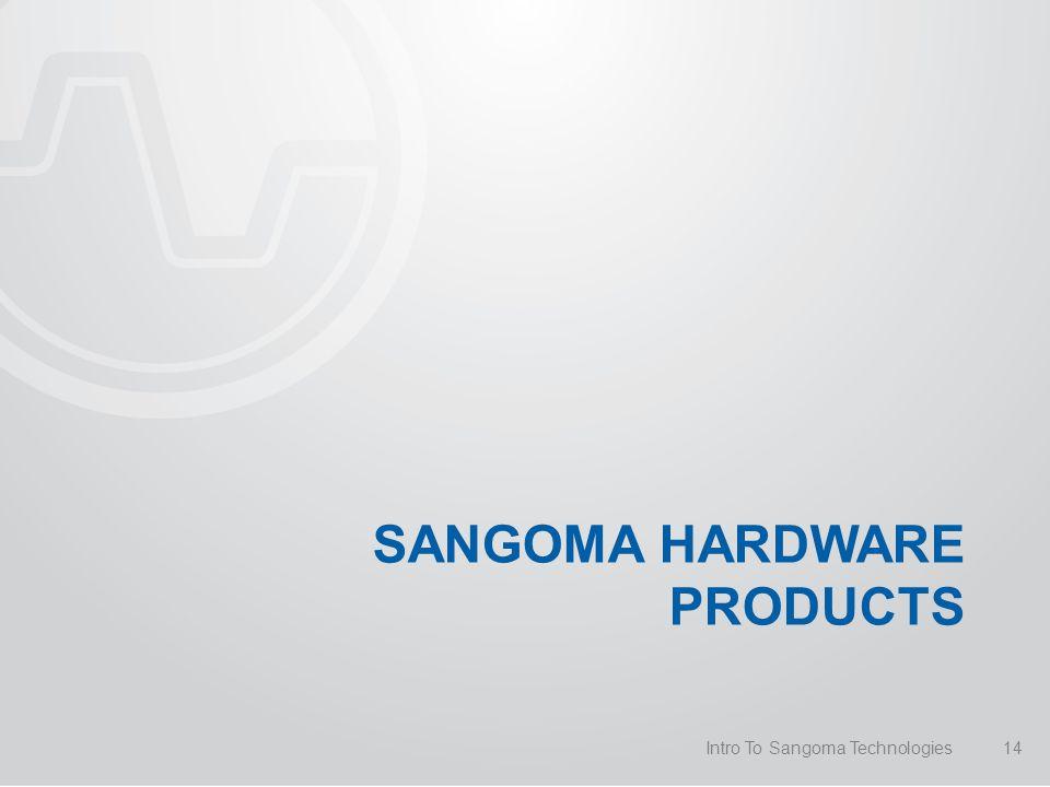 SANGOMA HARDWARE PRODUCTS Intro To Sangoma Technologies14