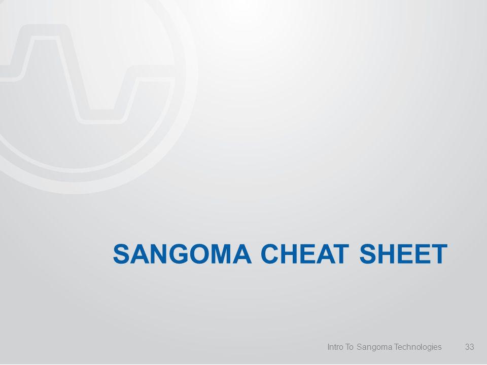 SANGOMA CHEAT SHEET Intro To Sangoma Technologies33