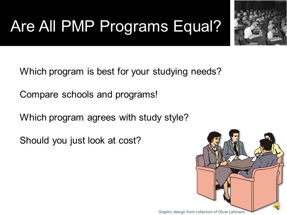 Are All PMP Programs Equal.Which program is best for your studying needs.