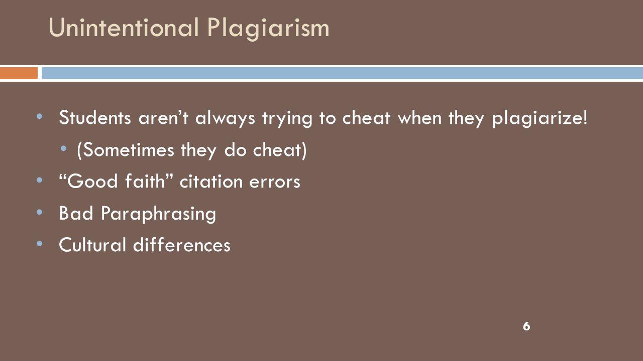 7 II. Strategies for Preventing Plagiarism