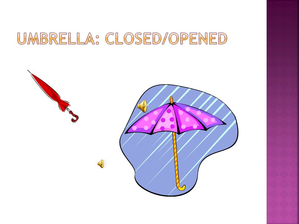  WHEN YOU ARE WRITING, IDEAS COME TO YOUR MIND, BUT THEY ARE JUST IDEAS UNTIL THEY ARE DEVELOPED WITH DETAILS.  FOR EXAMPLE: THE IDEA OF AN UMBRELLA