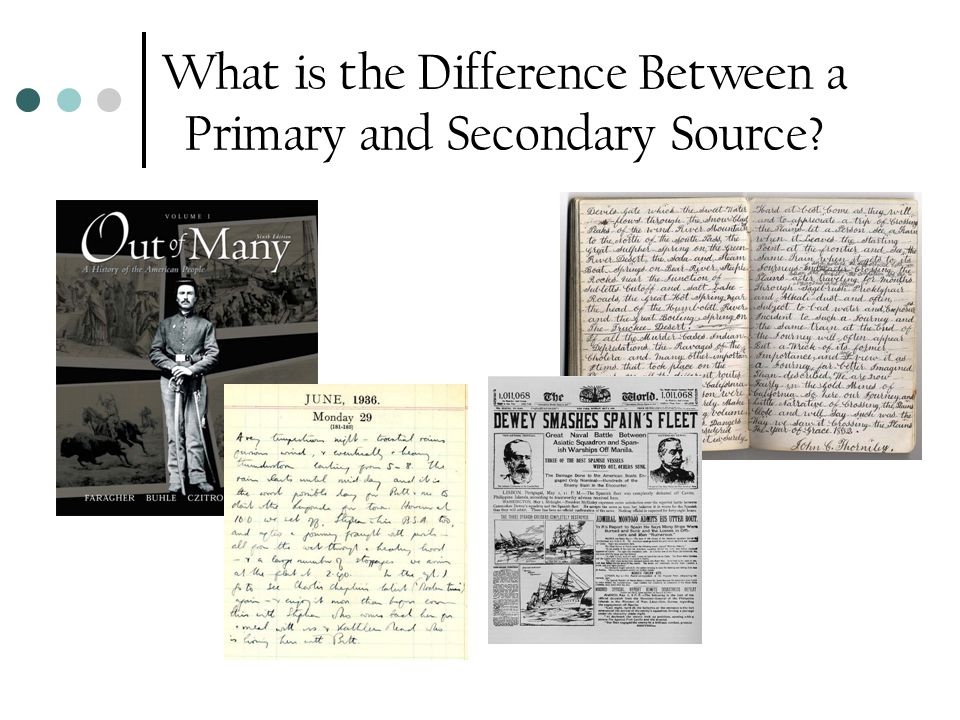 What is the Difference Between a Primary and Secondary Source?
