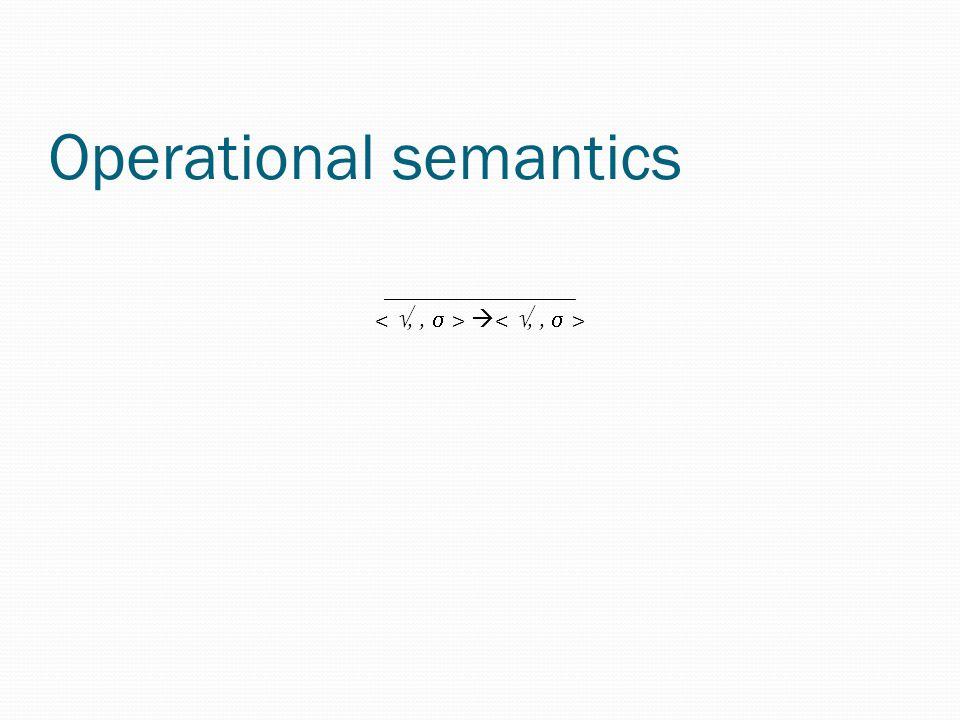 Operational semantics ________________ 