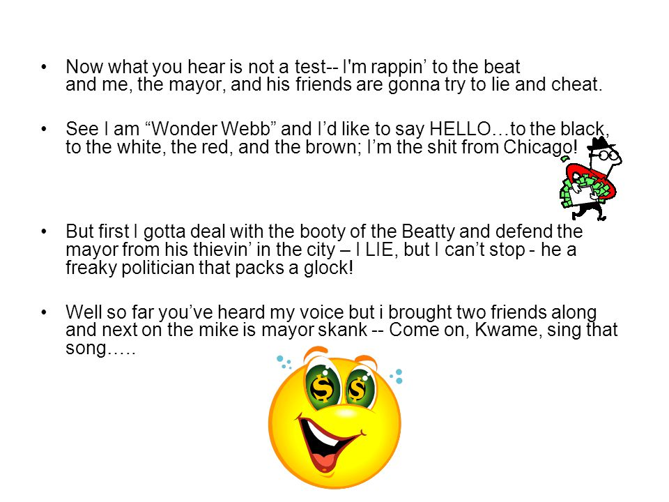 The HIP-HOP Mayor's Sing Along Song ( Quick collaborative on April Fool's Day ) I said a hip hop the hippie the hippie to the hip hip hop, you don't s