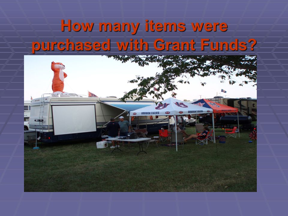 How many items were purchased with Grant Funds