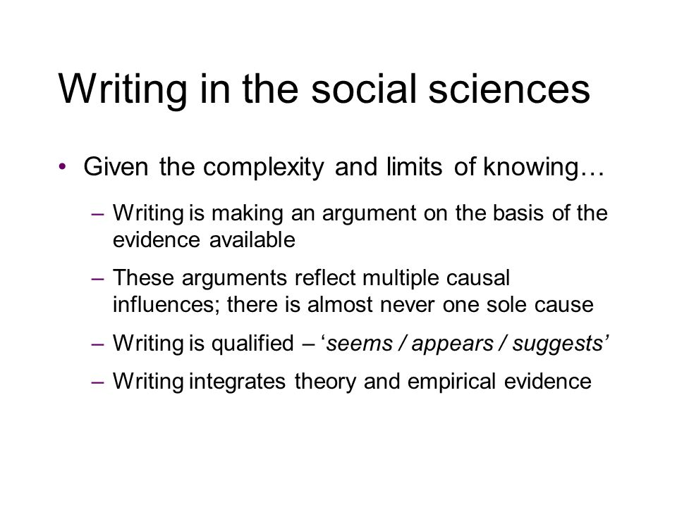 Good academic writing Logos (logic and flow) –Answer the question –Structure and form of the argument –Clarity of basic plan + specificity of support for the points made –Flow of argument (narrative + links)
