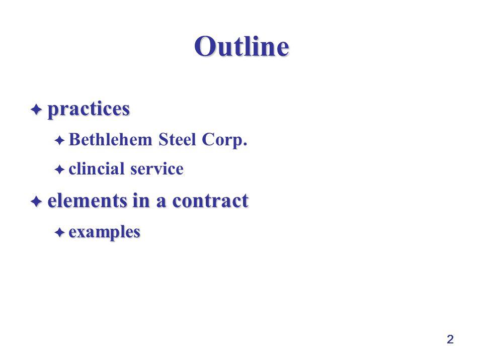 2 Outline  practices  Bethlehem Steel Corp.
